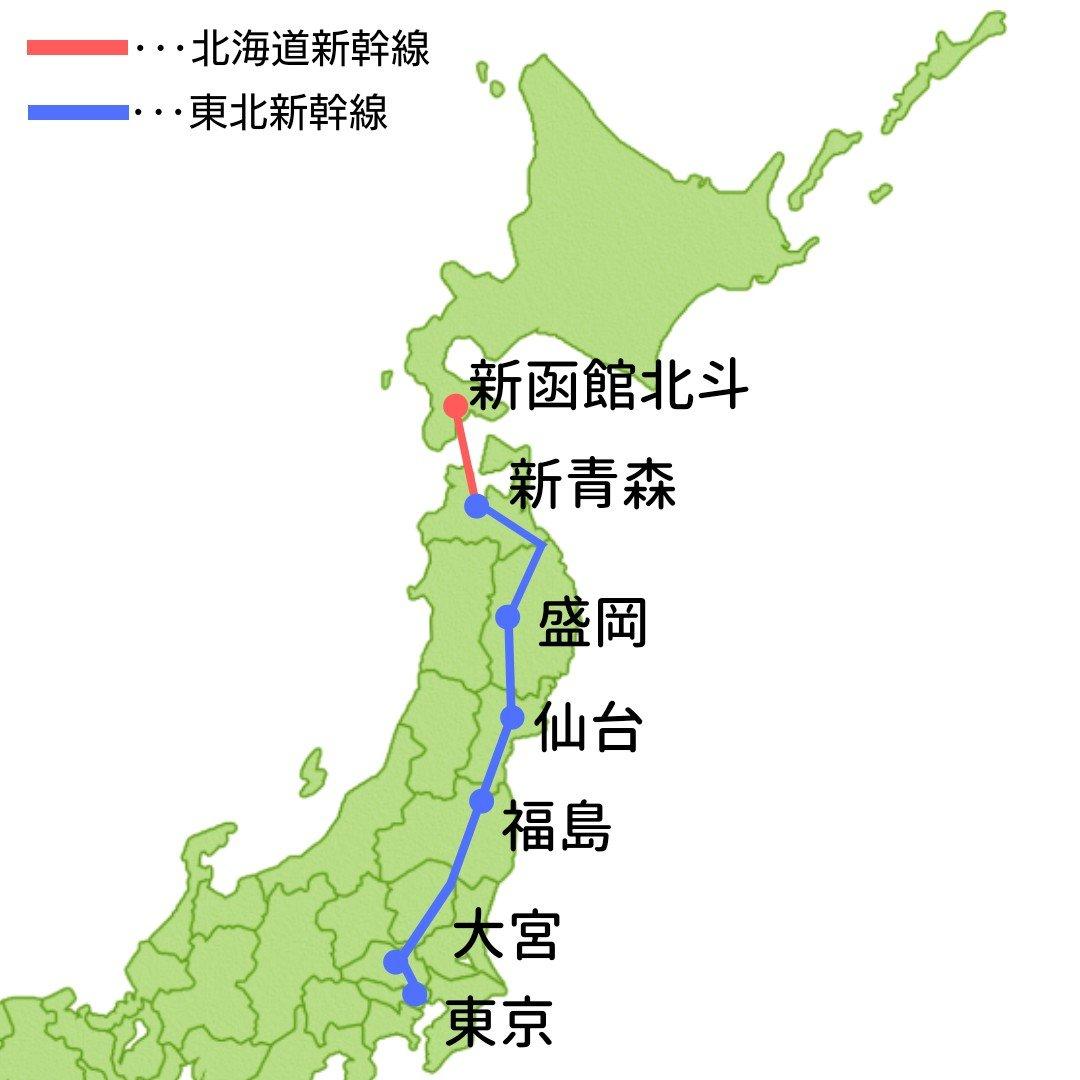 東北新幹線 北海道新幹線