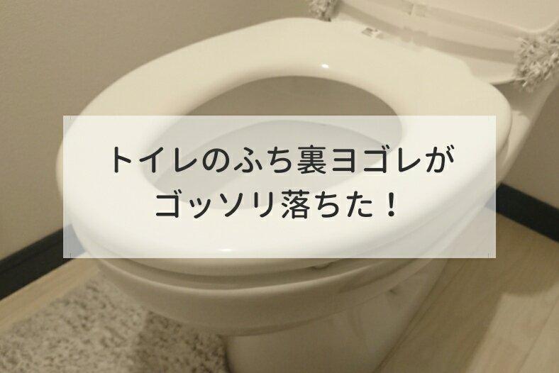 黒ずみ トイレ の ふち 裏